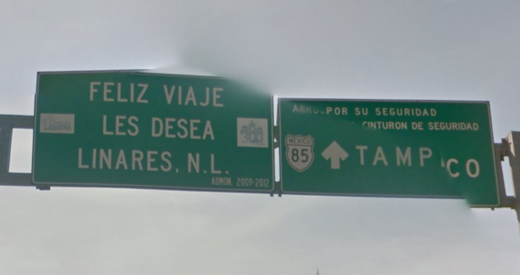 Bob LaGarde - Road trip through Central America - Departing Linares to Tampico