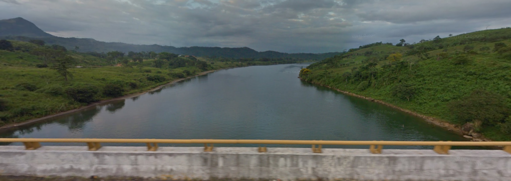 Bob LaGarde - Road trip through Central America - South view of Rio Grijalva