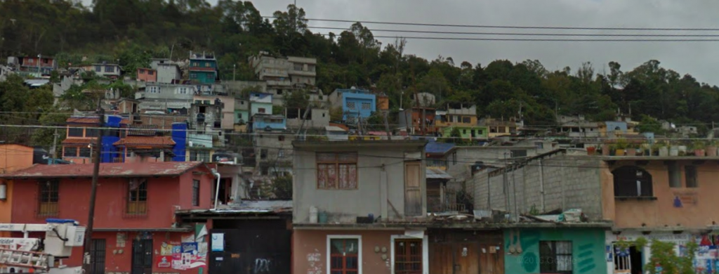 Bob LaGarde - Road trip through Central America - Typical hillside village outside of San Cristobal