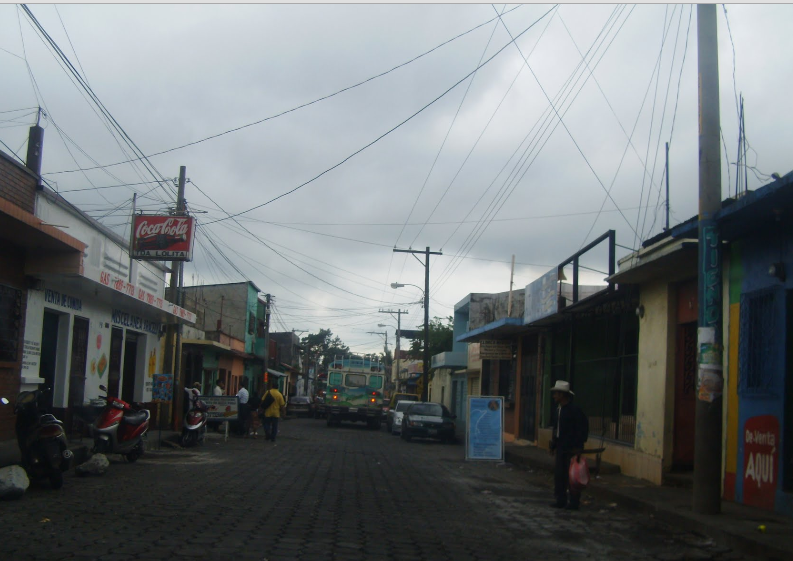Bob LaGarde - Road trip through Central America - View down a side street in Escuintla