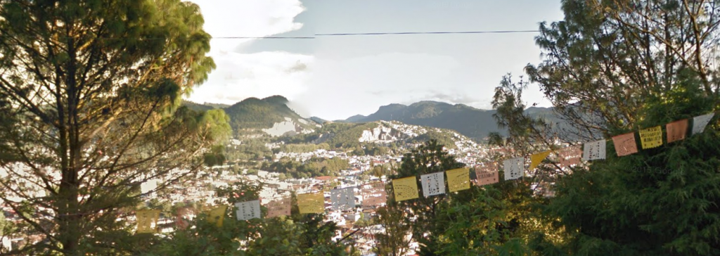 Bob LaGarde - Road trip through Central America - View of San Cristobal nestled in the valley