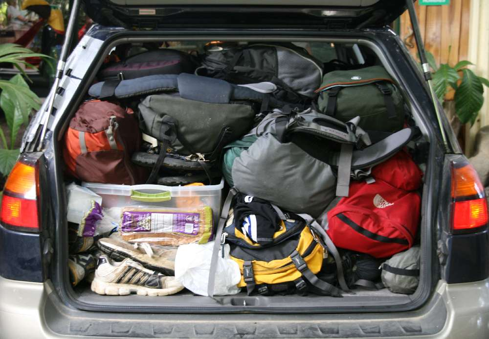Bob LaGarde - Road trip through Central America - packed car!