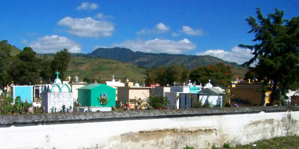 Bob LaGarde - Road trip through Central America - Another case de los muertos in the town of Alotenango