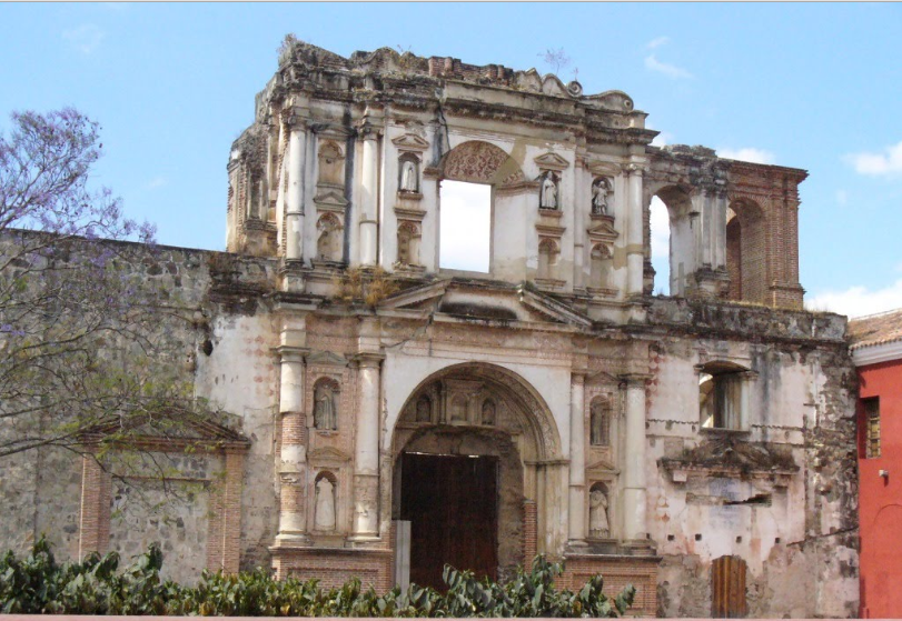 Bob LaGarde - Road trip through Central America - Ornate facade in Antigua