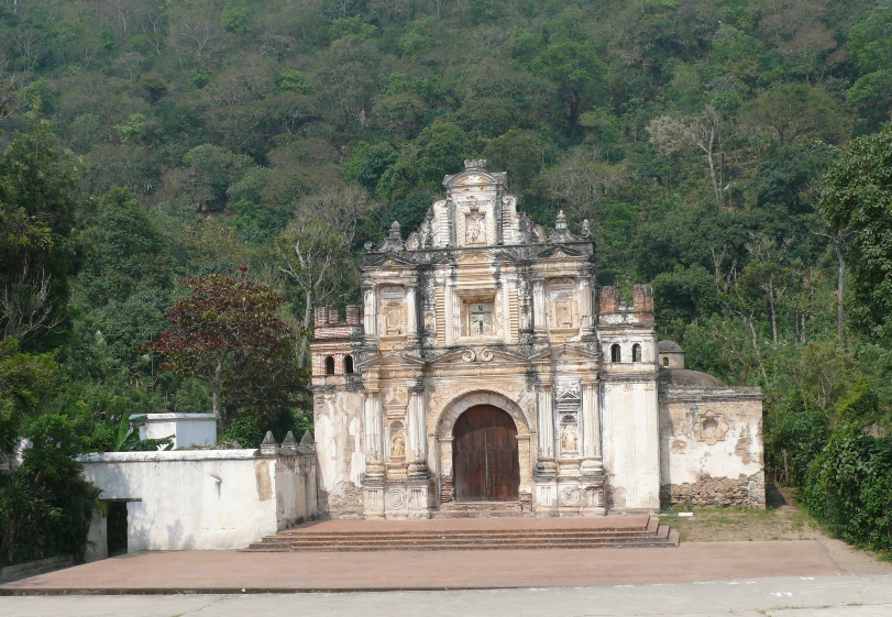Bob LaGarde - Road trip through Central America - Ruins of the Chapel of the Holy Cross old Antigua