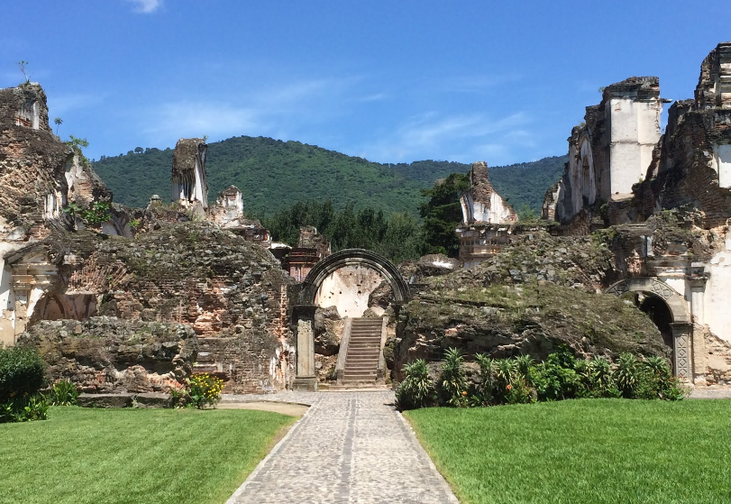 Bob LaGarde - Road trip through Central America - Side entry into the Santa Maria Convent ruins