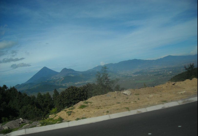 Bob LaGarde - Road trip through Central America - Looking out across the Xela valley